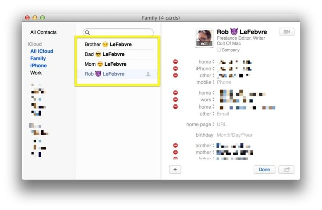 make your contacts list more visual with emoji os x tips