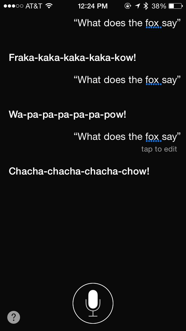 "What Does Your Number Mean: Ask Siri ""What Does The Fox Say"" And You Won't Be"