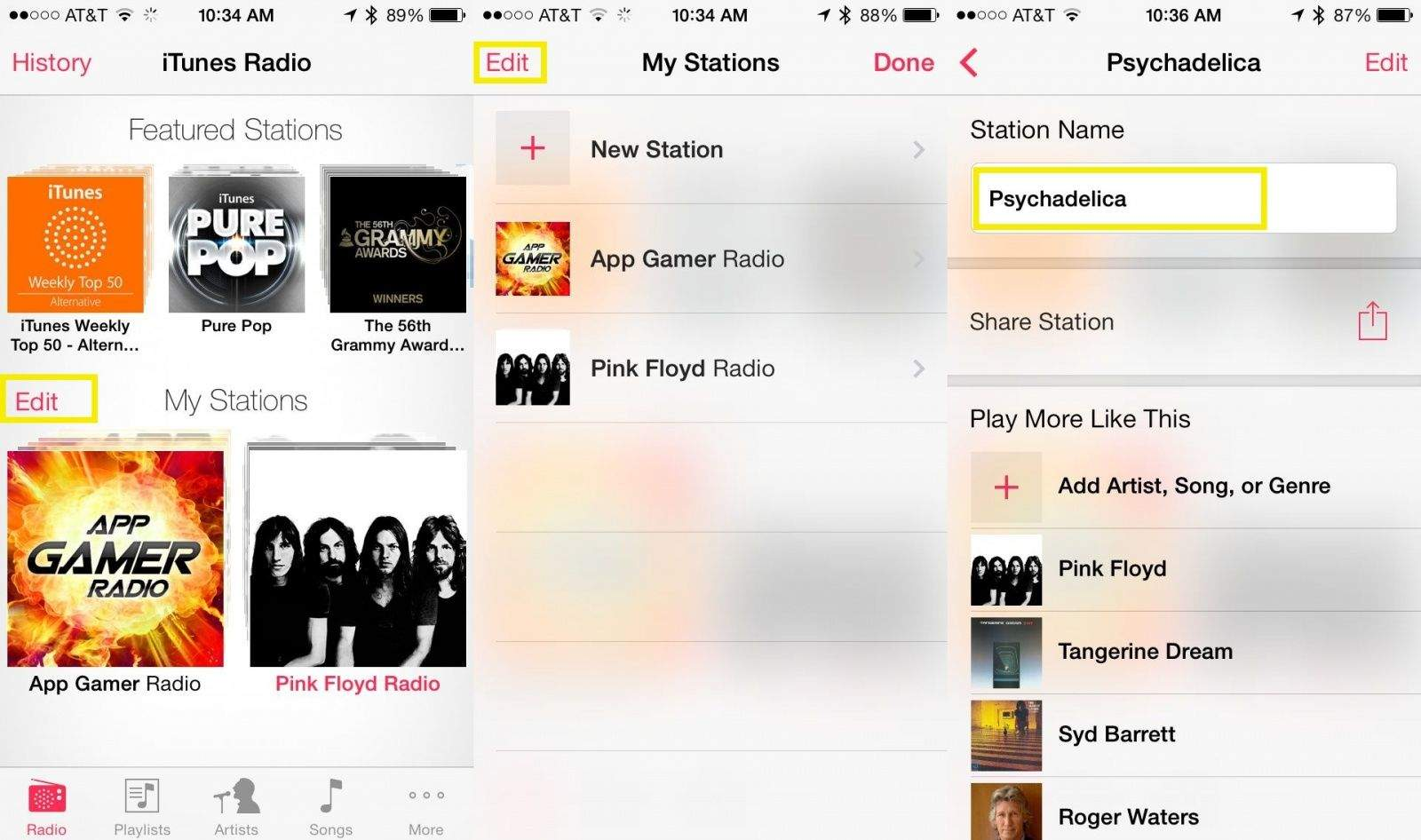 iTunes Radio Rename