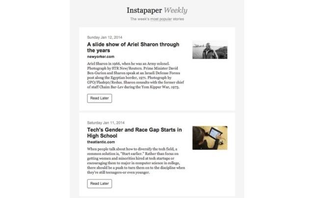 instapaper weekly