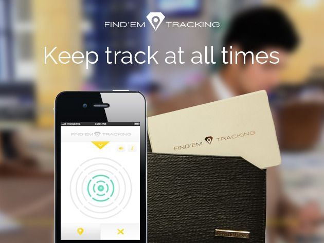 track valuables at all times straight from your phone with the find