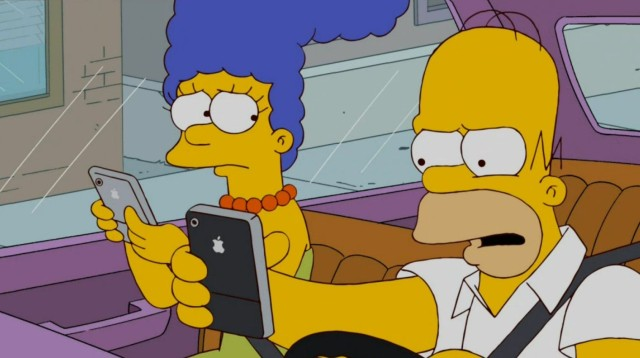 Don't watch the Simpsons on your iPhone while driving. Photo: 20th Century Fox