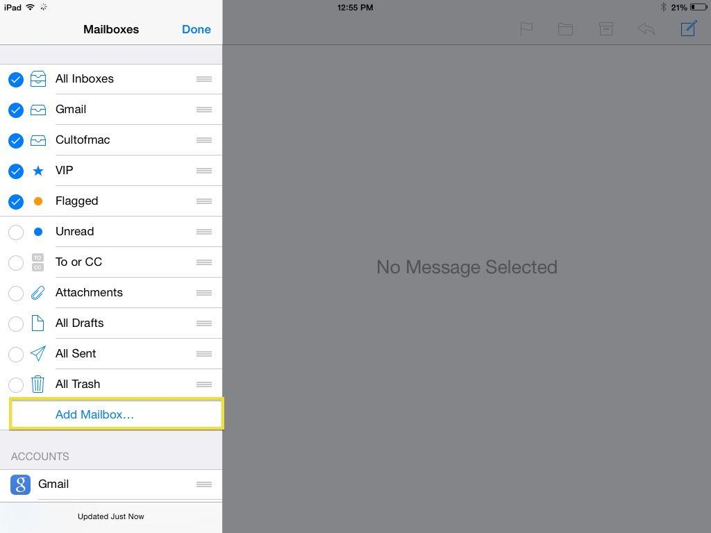 Add Your Own Mailboxes To iOS 7 Mail App [iOS Tips] | Cult ...