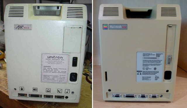 Rear Unitron and Apple 512k