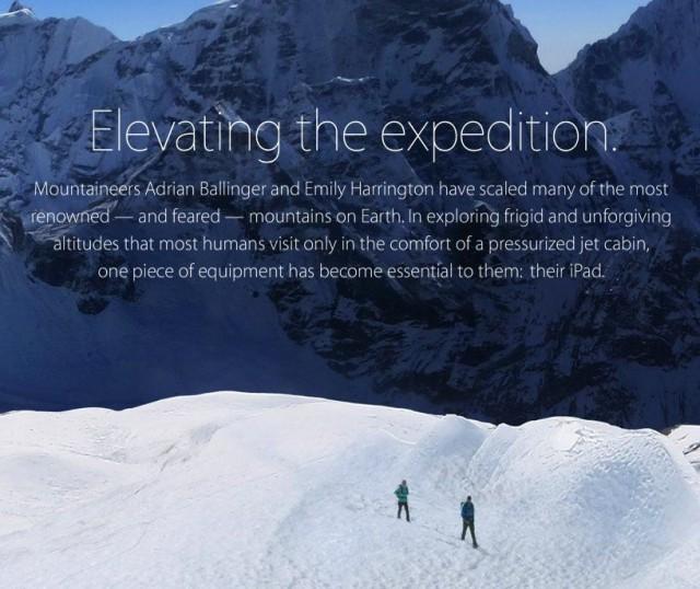 iPad mountaineering