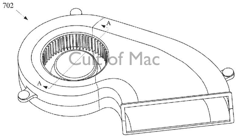Apple's new compact fan patent application will be both smaller and quieter than current versions.