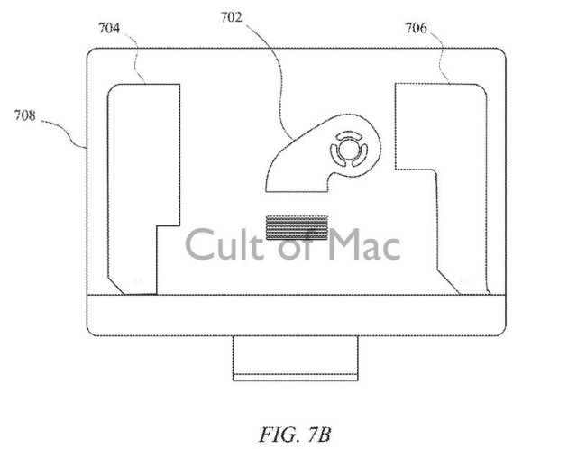 A diagram showing the compact fan as it might appear in a future generation iMac.