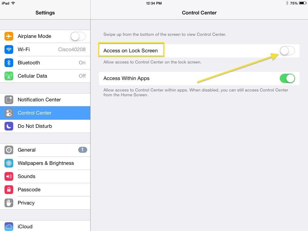 how to disable control center on your ios lock screen ios tips