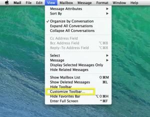 customize toolbar