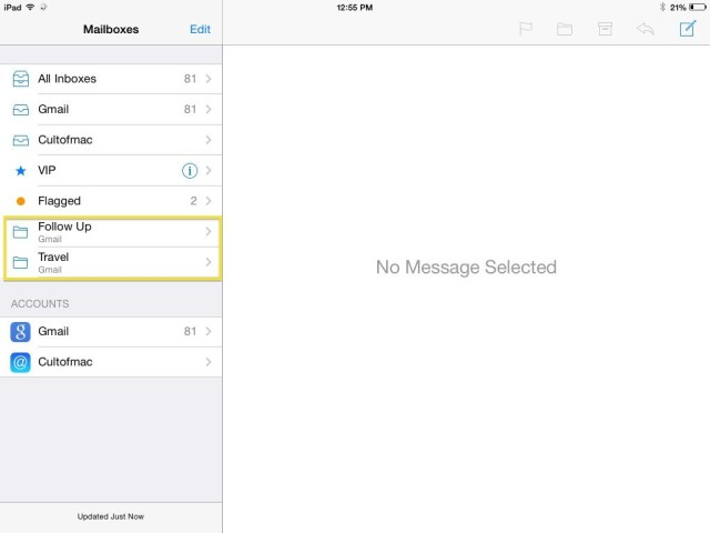 add your own mailboxes to ios 7 mail app ios tips cult of mac