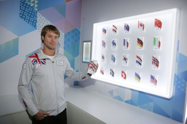 Olympic athletes receive Note 3 phones with their country's flag on the back.
