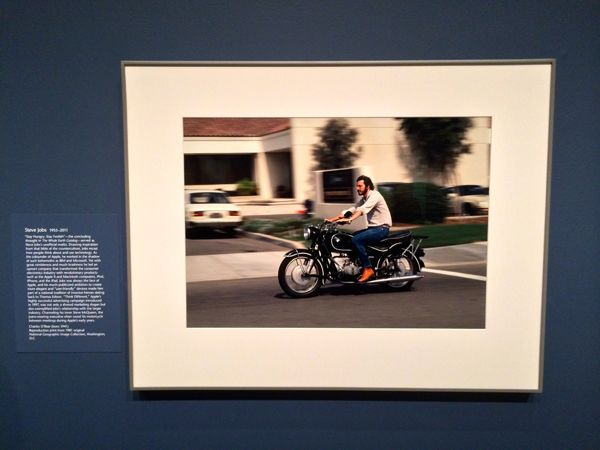 Here's the photograph as it appears in the National Portrait Gallery... (Credit: Blake Patterson)