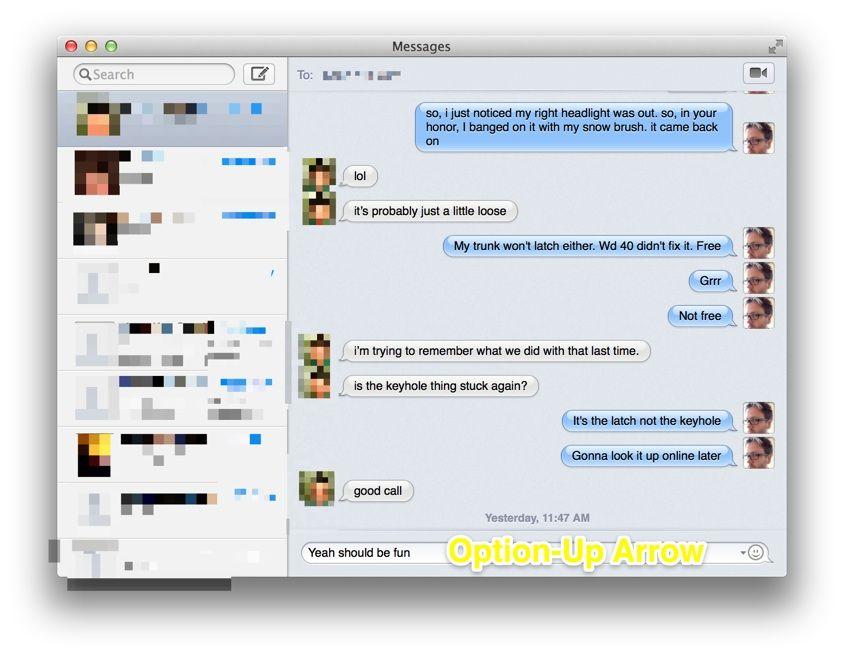 messages buffer