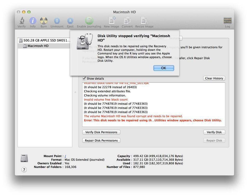 How To Repair & Verify Your Hard Drive From The Command Line [OS X