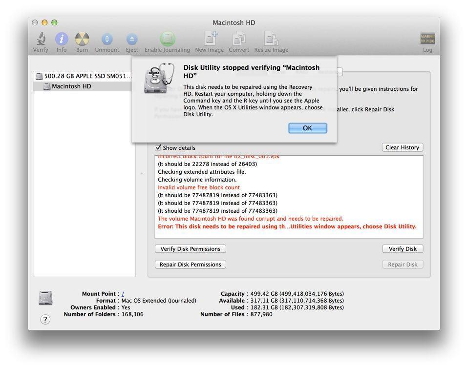 hard disk repair utility mac