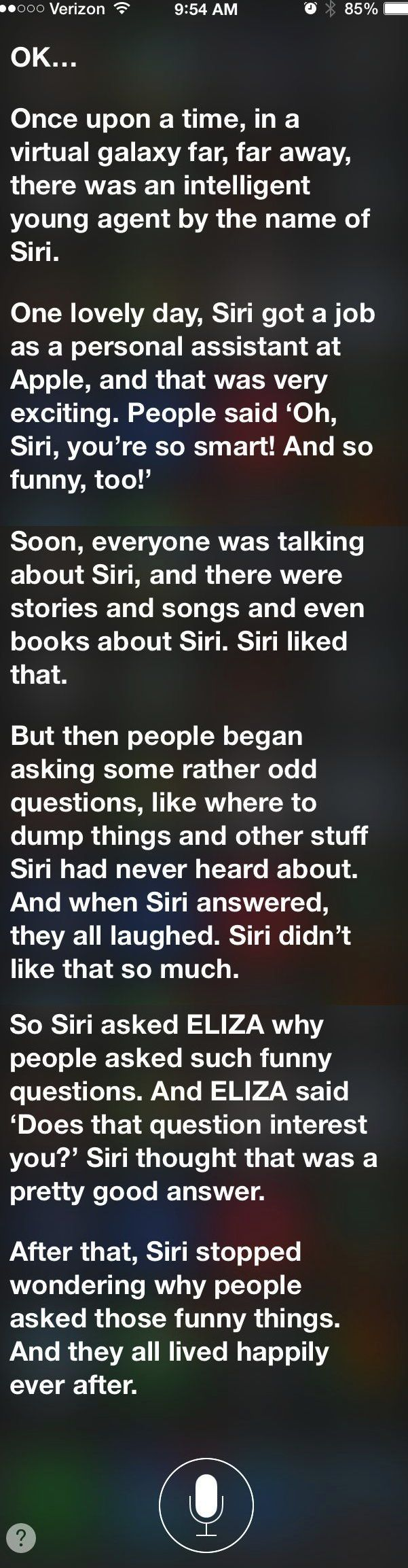 how to get siri to tell you a story