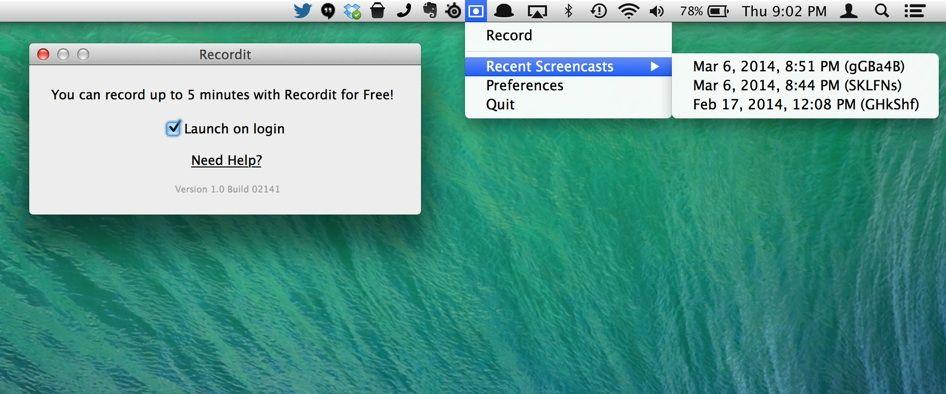 Recordit Screencast