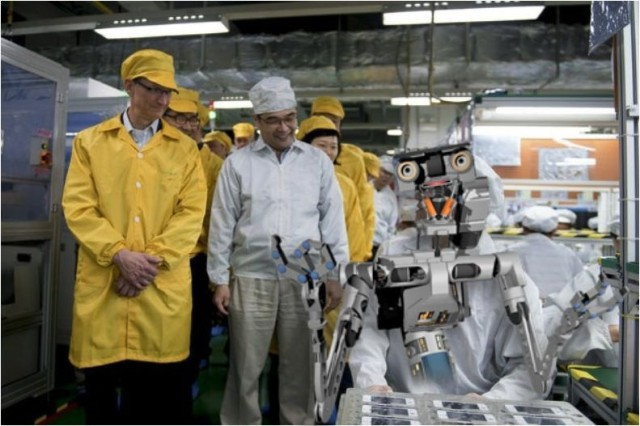 Artist's impression of what a future Apple battery production line might look like.
