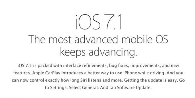 iOS71update