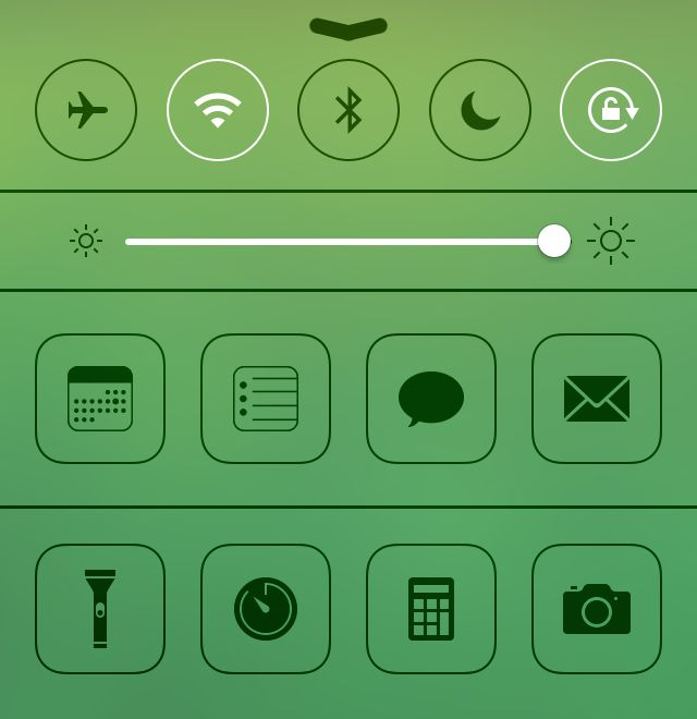 Extra toggles in Control Center give you quick access to whatever widgets you want