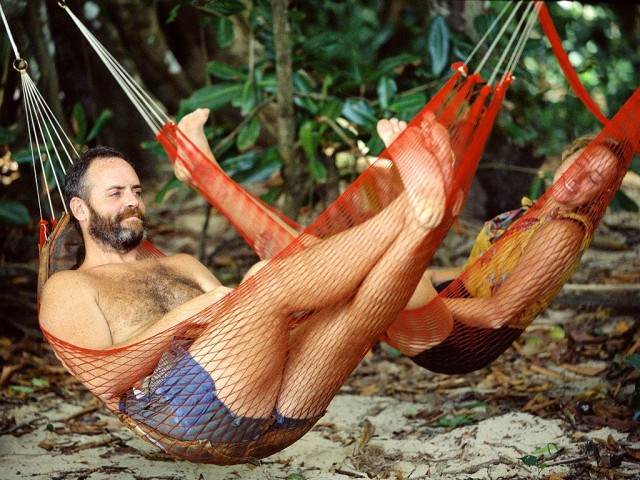 Life's a beach for Richard Hatch