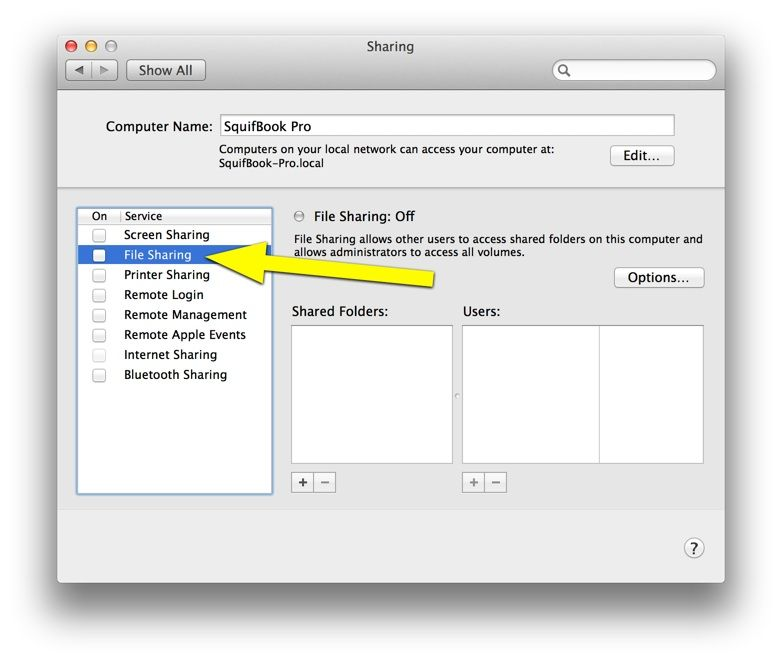 Better security on that macbook turn off file sharing enable disable file sharing ccuart Image collections