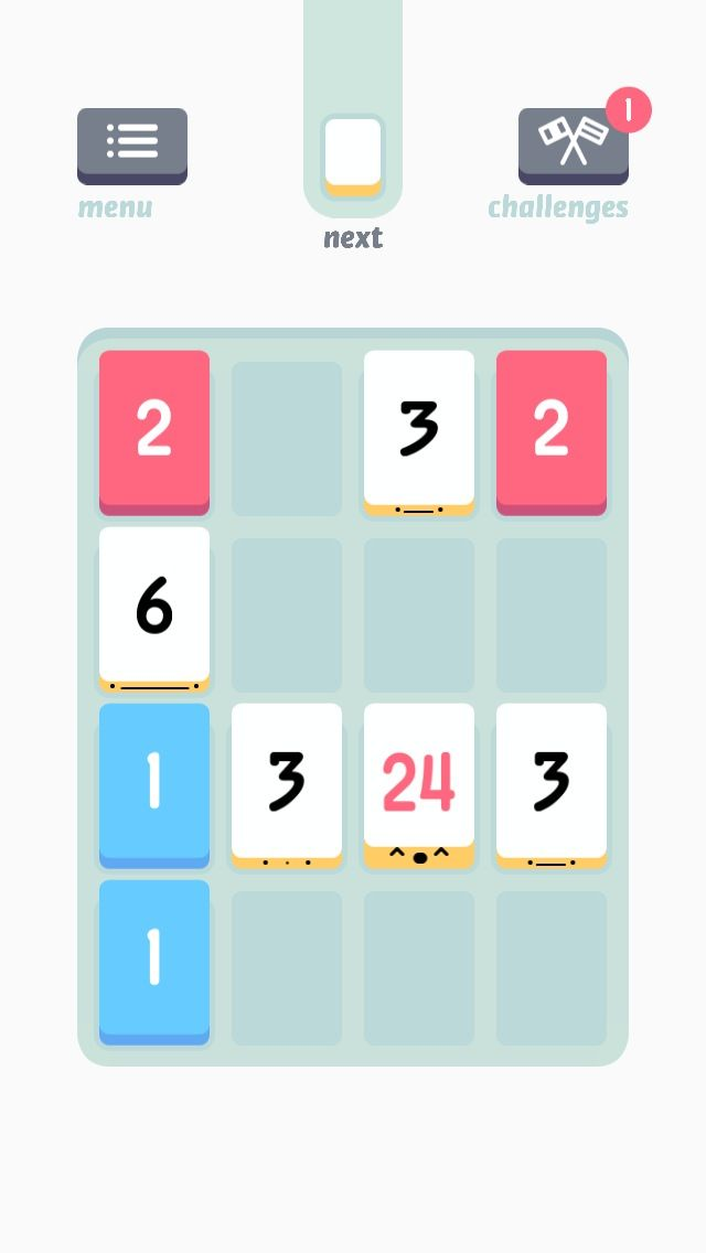 All the game and math nerds love Threes, and it's easy to see why. This sudoku-meets-sliding-puzzle game requires just the right combination of zenlike concentration and sharp addition skills to keep you playing long into the night.