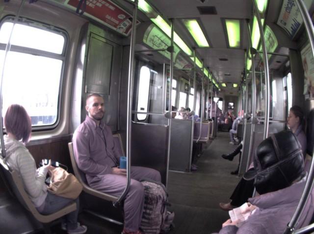 Sneaks on a train. Photo: David Pierini/Cult of Mac