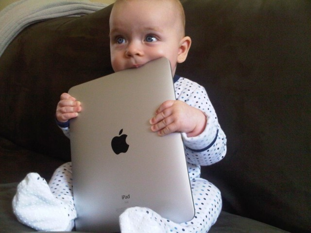 Image result for child staring at iPhone, photos