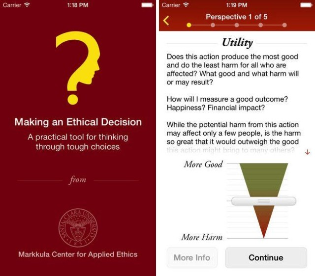 Ethical Decision Making iOS App Is Like A Conscience In Your Pocket