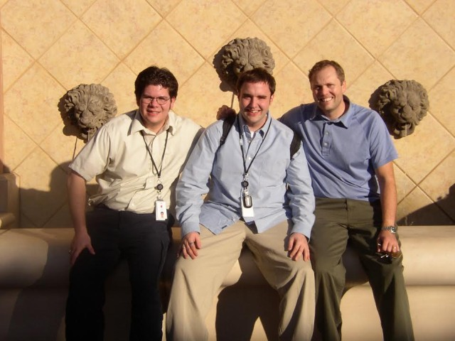 SITU creator Michael Grothaus (middle) during his time at Apple.