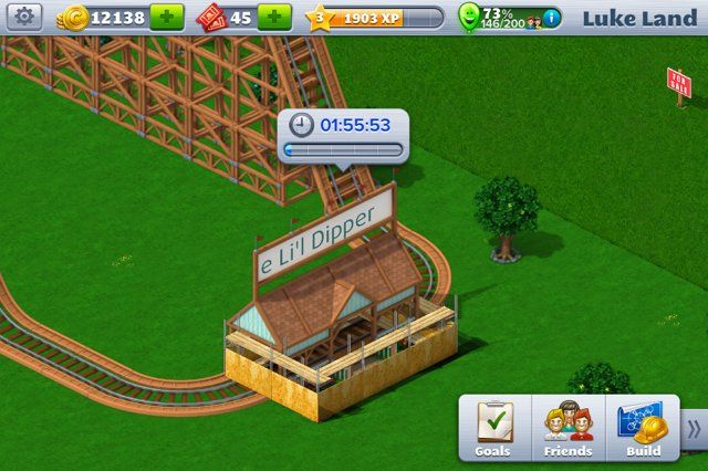 Two-hour build times are, frankly, ridiculous. And this is only the second coaster on the game.