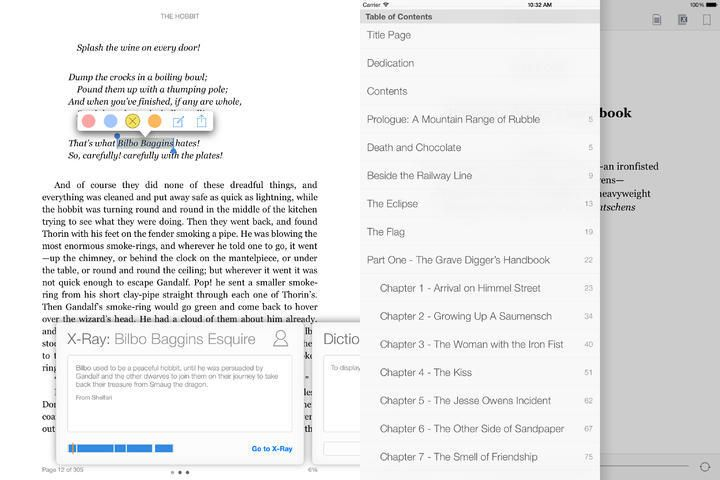 Kindle App Gets Integrated Table Of Contents Better X Ray
