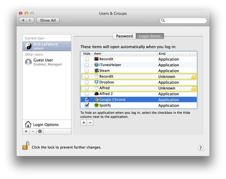 Speed up Mac startup: Remove login items [OS X Tips]
