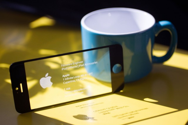 This badass business card is made from an iphone screen cult of mac this badass business card is made from an iphone screen reheart