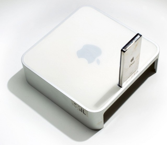 Mac Mini with iPod dock.