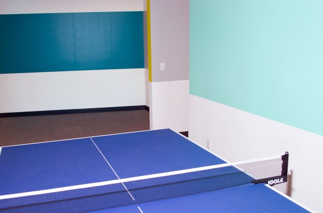 The shared office space Automatic works out of comes with a pingpong table and soothing colors.