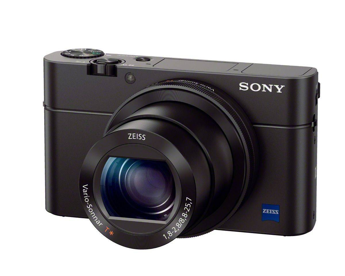 "Sony's new RX-100 III takes the best pocket camera in the world and makes it even better. Now the 20MP shooter packs a pop-up OLED viewfinder, a faster ƒ1.8-2.8 maximum aperture across the 28-100 zoom range, a new 180-degree flip-up selfie-ready screen and ""full-sensor readout 1080p."" There's even Wi-Fi so you can post the results to Instagram. $800"