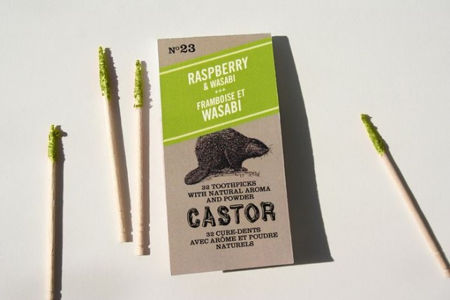 Castor double-flavored toothpicks