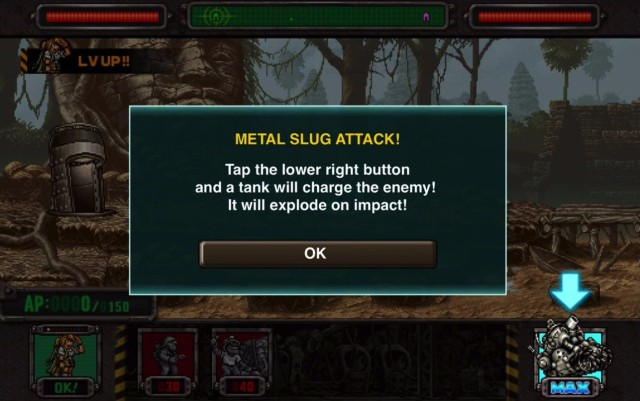 The Metal Slug of the title makes an appearance as a super weapon.