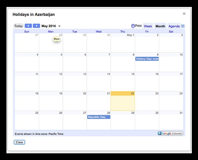 Find and add national holidays to your Google calendar