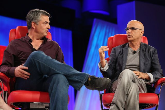 Apple's Eddy Cue and Beats co-founder Jimmy Iovine sit in Walt Mossberg's famous red chairs to dish on Apple's Beats acquisition.
