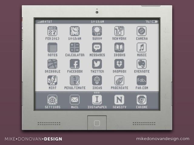 Flat iPad throwback