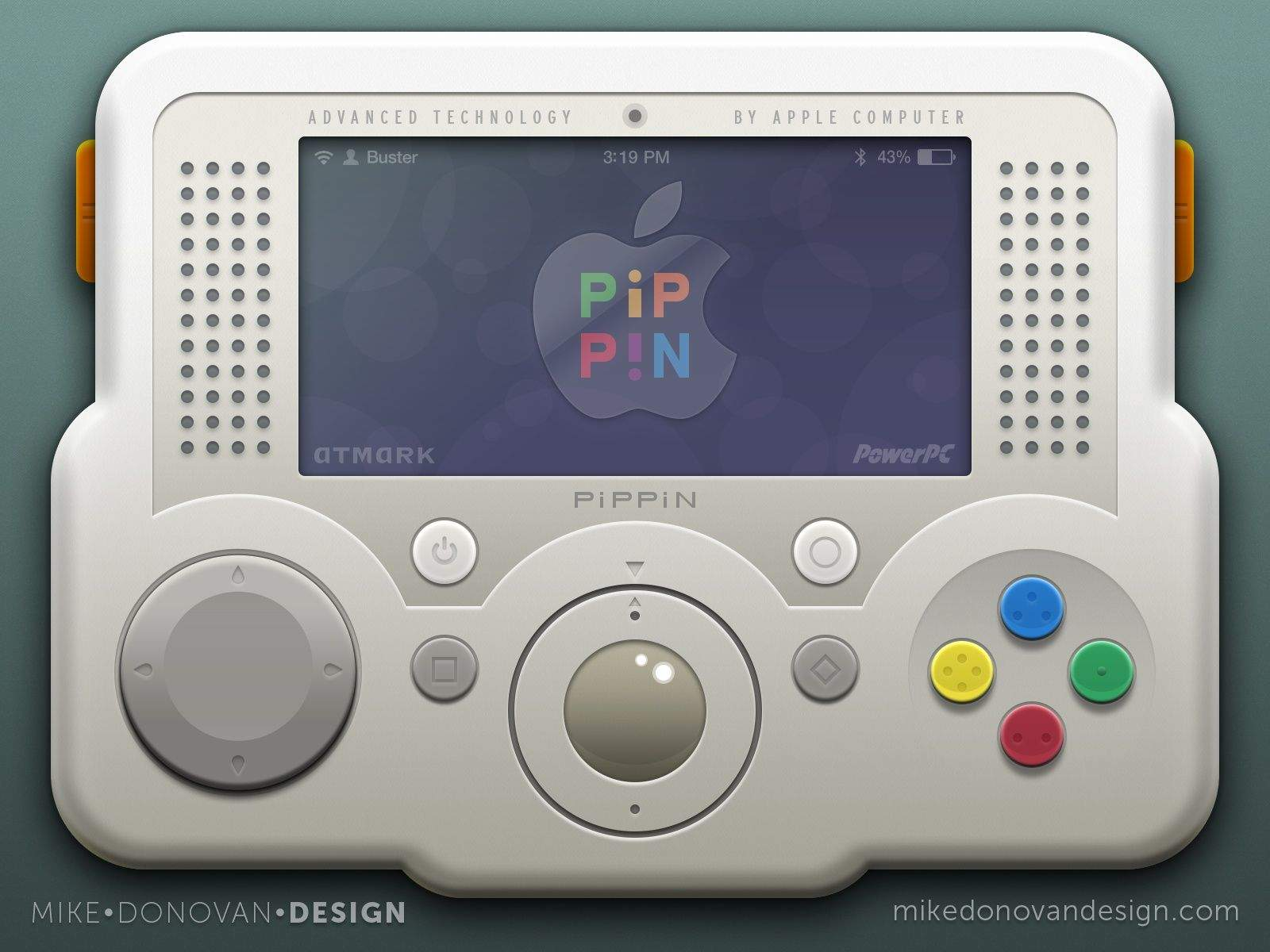 This portable Pippin design is just one of the faux Apple products in Mike Donovan's portfolio of vintage reveries. Images: Mike Donovan