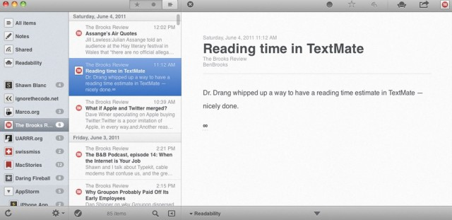 The best RSS reader yet?