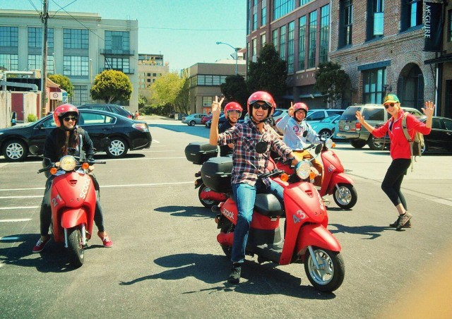 Tour SF on an iPhone-controlled scooter