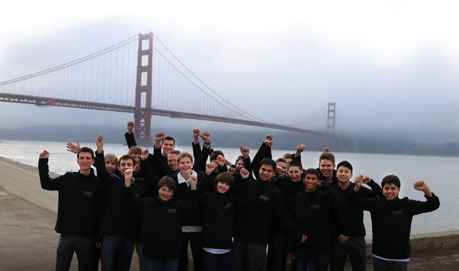 Some of last year's WWDC scholarship winners. (photo credit: Apple)