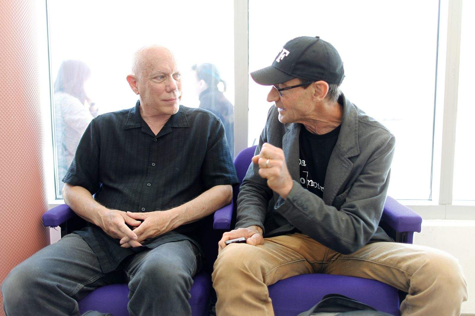 Bill Atkinson, left and Andrew Stone chat each other up at AltConf in San Francisco June 3, 2014. Photo: Jim Merithew/Cult of Mac
