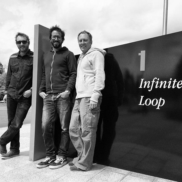 DigiDNA's principals go on a pilgrimage to Apple HQ: CTO Jérôme Bédat, COO Victor Broido and CEO Michael Fuhrmann.