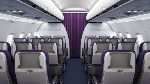 Monarch iPad-holding plane seat